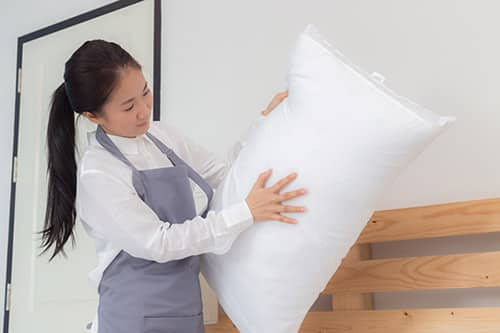 Changing Pillowcases for your pillow