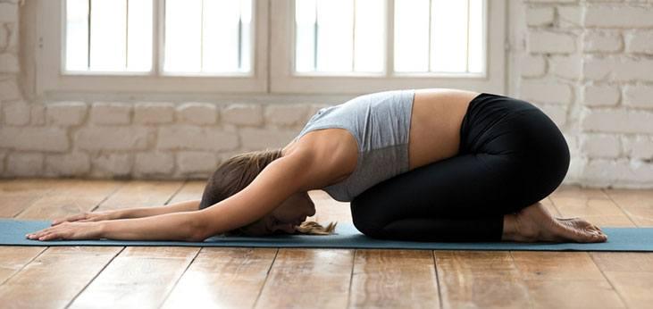 Child's Pose (Balasana) - yoga poses for sleep