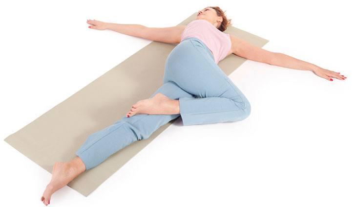 Supine Spinal Twist (Supta Matsyendrasana) - yoga poses for sleep