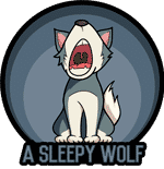 A Sleepy Wolf logo